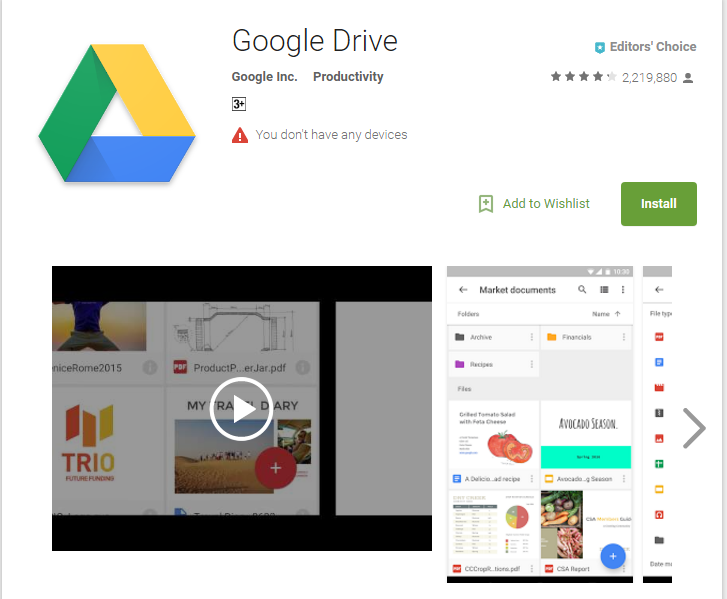 google-drive application