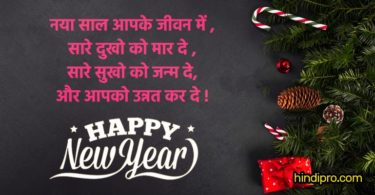 Latest Happy New Year Message, Shayari & Status in Hindi