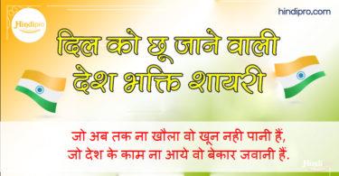 Top 30 Desh Bhakti Shayari in Hindi - देश भक्ति शायरी