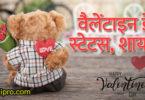 Happy Valentines Day 2019 Status Shayari - वैलेंटाइन डे स्टेटस शायरी