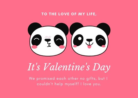 Pink White Boyfriend Valentines Card