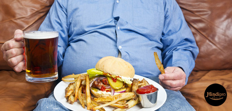 obesity from junk food in hindi