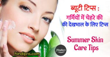 गर्मियों में त्वचा की देखभाल करने के लिए कुछ टिप्स - Skin Care Tips for Summer in hindi