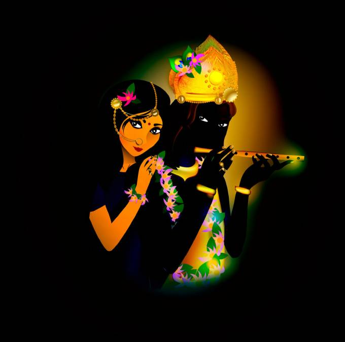 avatar images of god krishna and radha hinduism